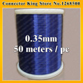 Free shipping 50m QA-1-130 2UEW Blue Magnet Wire 0.35 mm Enameled Copper wire Magnetic Coil Winding
