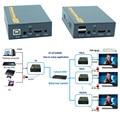 IP Netwerk USB 2.0 KVM Extender Met IR Control 1080 P HDMI Over LAN KVM Extender 120 m HDMI KVM Extensor Door RJ45 Cat5 Cat5e Cat6
