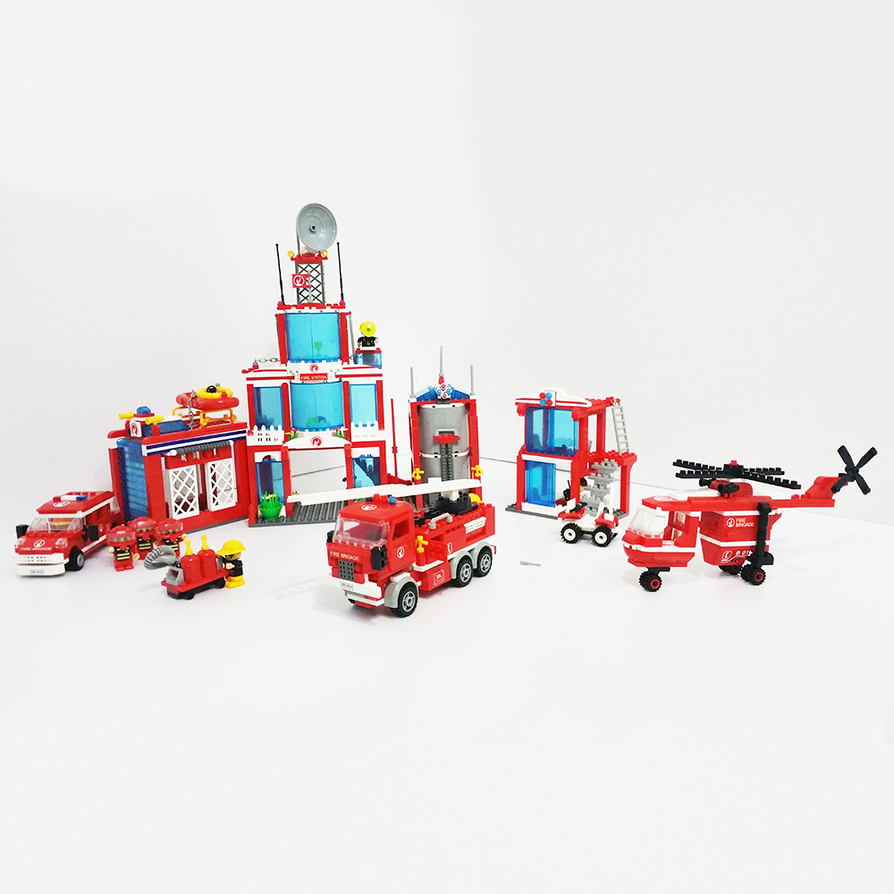 Model building kits Extra Large fire station 1285 Pcs Compatible with lego City 3D blocks Educational toys hobbies for children 2017 time limited patchwork hard female colorful diamond new design luxury evening bag handbag dinner party prom wedding clutch