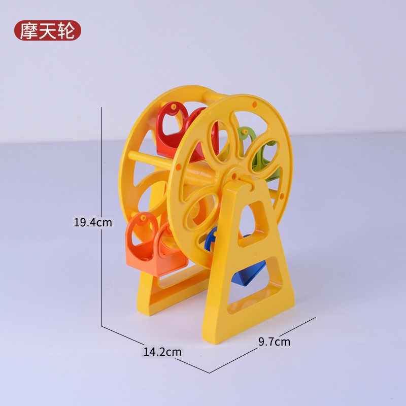 Legoing Criador Duplo Tamanho Grande Balanço Bloco de Figuras de Dinossauros Animais Acessórios Peças Ferris Wheel Brinquedos Legoings Criadores Duploe
