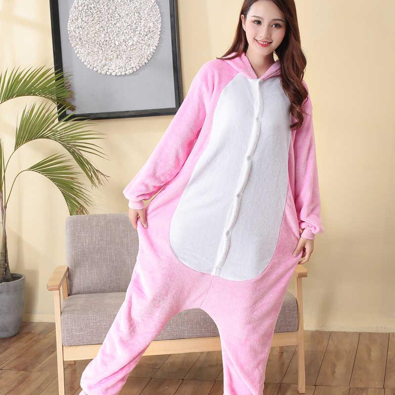 ... Милые животные кигуруми Розовая пантера женские комбинезон с капюшоном  Комбинезоны для взрослых цельные пижамы с длинным ... 5e838df488a87