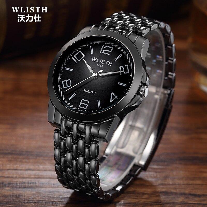 2018 New black men's hundred tower fashion watches men quartz watch brand waterproof bracelet watch male students luxury watches цена и фото