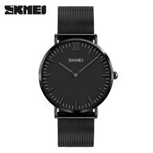 SKMEI New Top Luxury Watch Men Brand Men's Watches Ultra Thin Stainless Steel Mesh Band Quartz Wristwatch Fashion casual watches