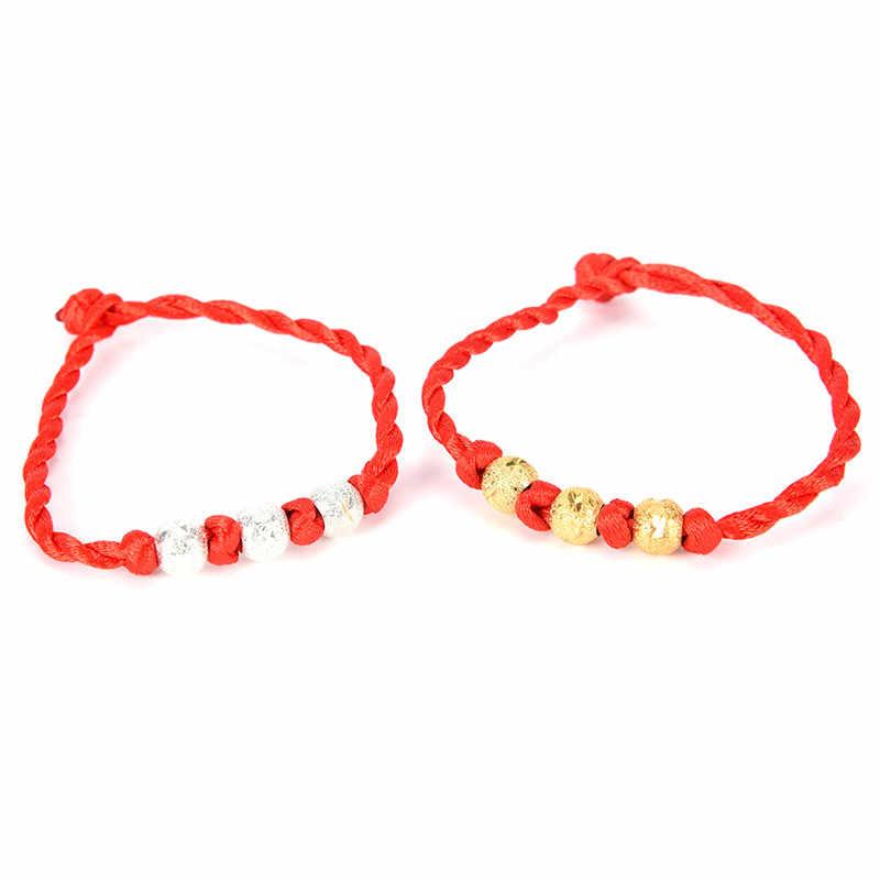 Mężczyźni bransoletka czerwona linka bransoletka Lucky Braceletsfor kobiet Cord String Line biżuteria Handmade dla pary kochanka prezent 19.5 cm/7.7in