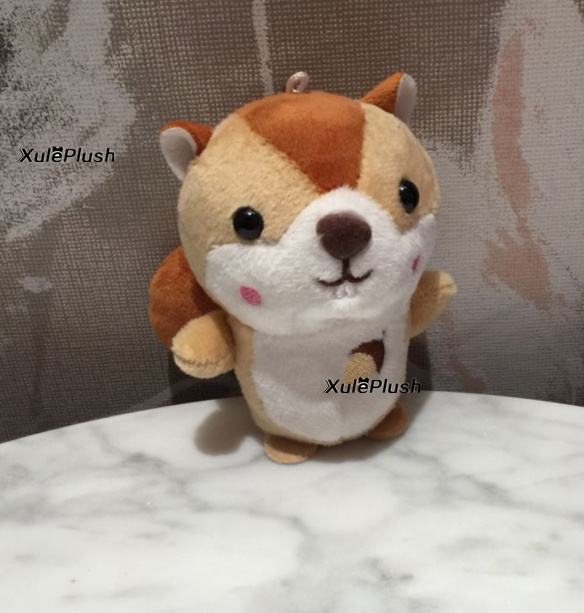 Size 10CM Approx. New Squirrel Plush Toy Doll , 4Colors- key chain Stuffed Animal Gift DOLL baby TOY