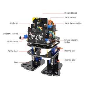 Image 5 - Elecrow マイクロ: ビットプログラマブルダンス DIY ロボット二足歩行人型サーボロボットマイクロビットプログラミング学習キット子供のための