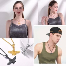 Faravahar Ahura Pendant Necklace Stainless Steel Jewelry Ahura Zoroastrian Achaemenian Pendant Iranian Jewelry GP2774-S