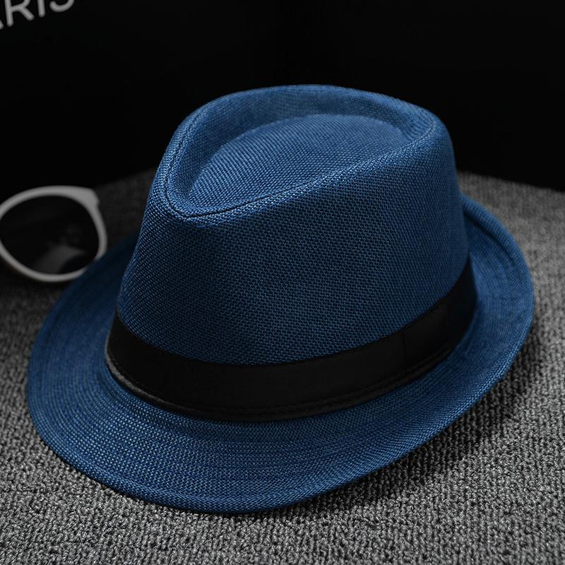 dd87778a3224b 2019 Fashion Unisex Straw Fedoras Sun Hat Panama Trilby Crushable ...
