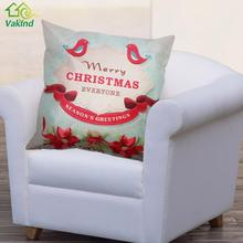 45*45 cm  Christmas  Message Board Pattern Cotton Pillow Cover  Linen Throw Pillow Case Decorative Home Decor