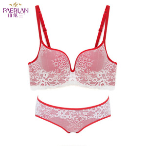 Image 5 - PAERLAN Fashion Brand Lace Sexy Slim V neck Deep Underwear Hot Retro Multicolor 7 Color Selection Bra Set Comfortable