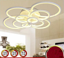 LED 81W-100W Acrylic Creative Personality Circular Bedroom Sitting Room Dining-room Absorb Dome Light  220-240V  @-9 все цены