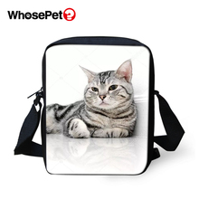 WHOSEPET Cartoon Kawaii Cats Women Messenger Bags Animal Cross Body Shoulder Cool Girls School Lady Mini Flap Postbags