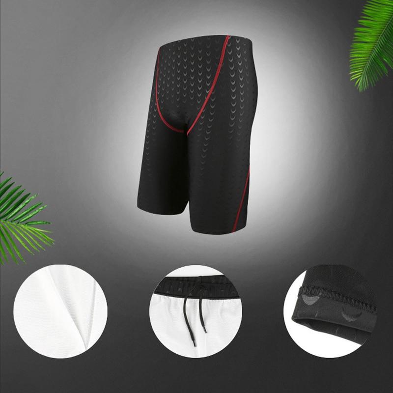 Men Swimwear Bathing Suit One Piece Body suit Beach wear Shorts 2018 Summer Knee-length Mens Swim Trunks Swimsuit with Lace Up
