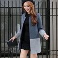 2017 Горячая продажа женские зимние шерстяные верхняя одежда женский средней длины плюс размер тонкий моды искусственной шерсти Пальто Дешево оптовая
