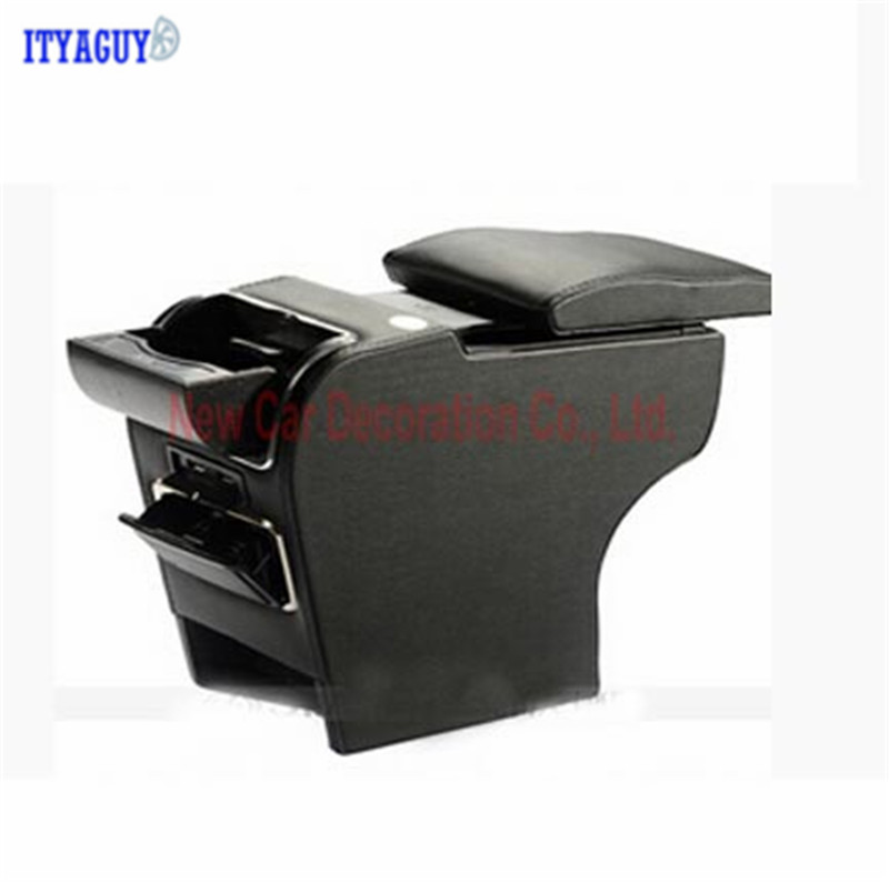 Car styling central armrest Storage box for Jimny Special Vehicle Auto Accessories 9 function with USB hidden cup seat