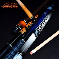 China Billiard Pool Cue Billiard Stick Center Joint Cue 147cm 19OZ 20OZ Black White Blue Orange