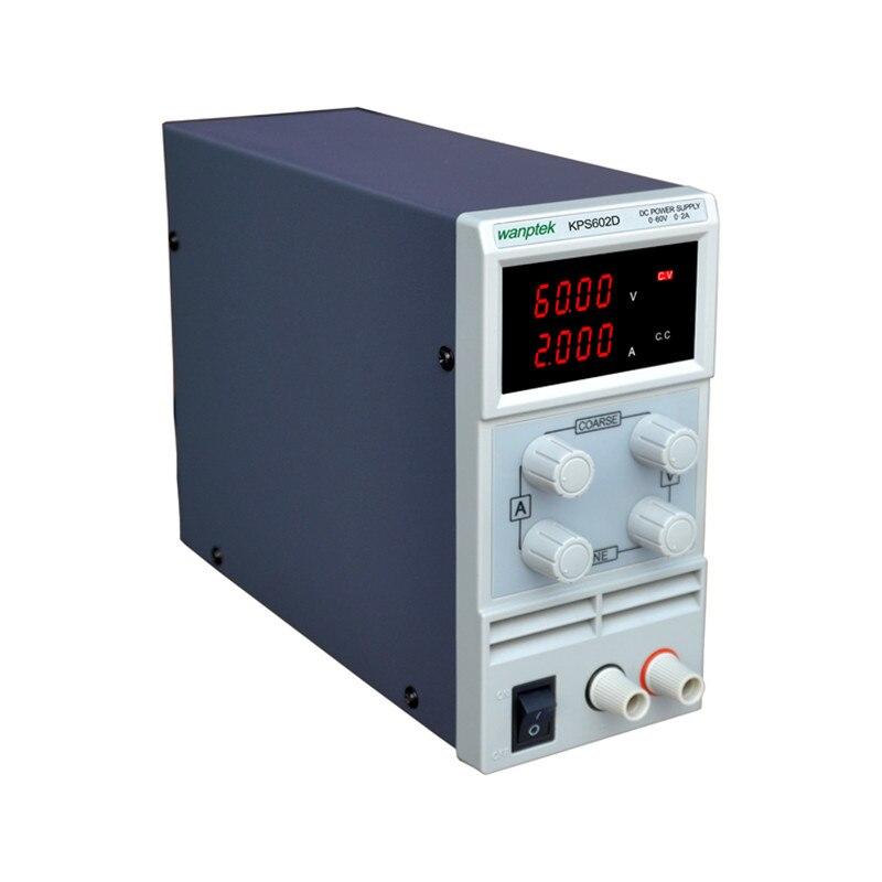 KPS602DF 0-60V/0-2A 110V-220V 0.01V/0.001A EU LED Mini Adjustable Digital DC power supply KPS602DF 0-60V/0-2A 110V-220V 0.01V/0.001A EU LED Mini Adjustable Digital DC power supply