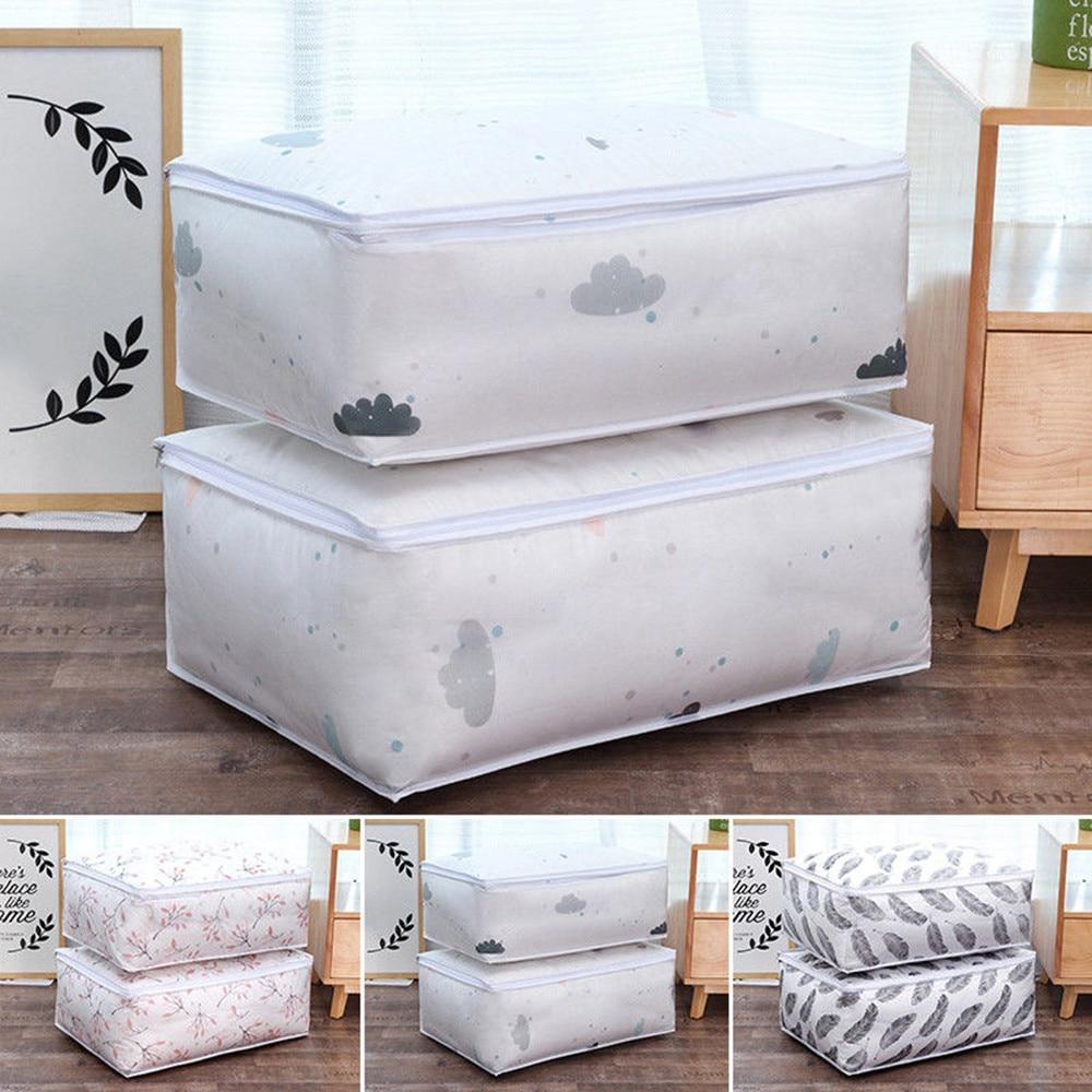 Foldable Storage Bag Clothes Blanket Quilt  Pillow Blanket Organizer Pouch Box