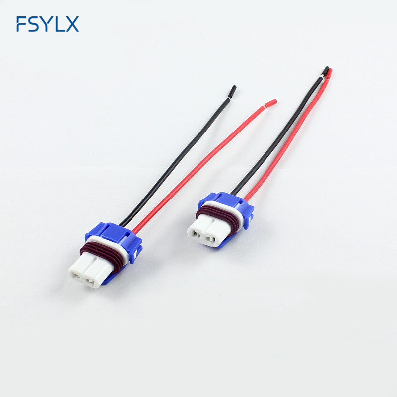 FSYLX Ceramics HB3 9005 Socket Car HB3 9005 9006 LED Fog Light Bulb Holder Connector Ceramic Socket 9005 9006 H7 Socket Ceramic