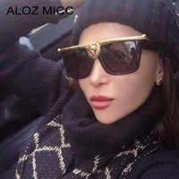 ALOZ MICC Luxus Übergroßen Lions Kopf Sonnenbrille Frauen Männer Marke Designer Sexy Cat Eye Sonnenbrille Weibliche UV400 Brillen Q33