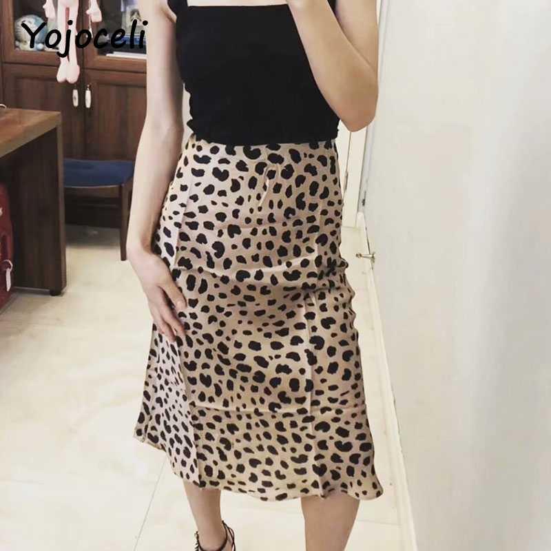 860c8bf1e42 ... Yojoceli 2018 Лето Простой стиль юбка женская пикантная леопардовая  расцветка юбка миди вечерние клуб уличная облегающая ...