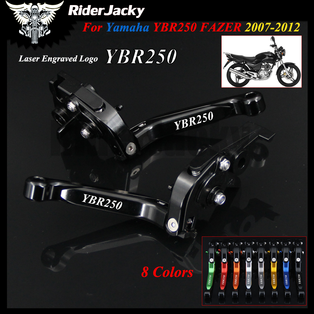 For YAMAHA YBR250 YBR 250 FAZER 2007-2012 2008 2009 2010 2011 Full Black Motorcycle Accessories Adjustable Brake Clutch Lever brand new 3d folding motorcycle adjustable brake clutch lever for suzuki gsr600 2006 2011 2008 2010 gsr750 2011 2012 2013