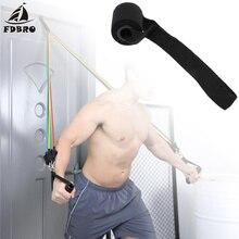 FDBRO Новое домашнее оборудование для фитнеса трос Эспандеры для упражнений над дверной якорь держатель губка эластичные ленты аксессуары