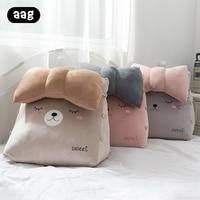Cartoon Triangular Cushion Pillow Backrest Sofa Office Chair Bed Rest Pillow Back Support Large Lounger Reading Lumbar Cushions