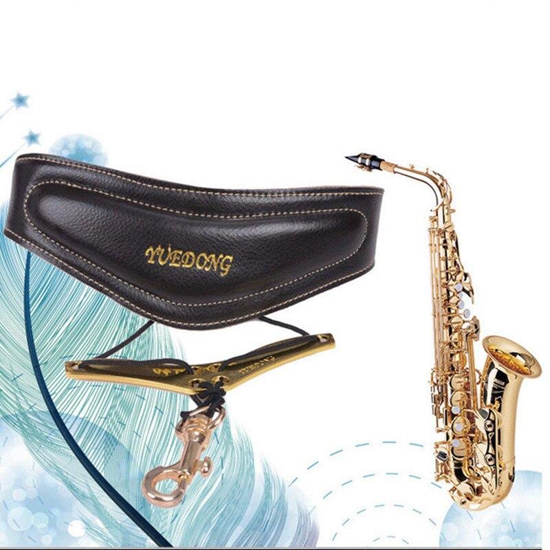 Professional Comfortable Bird Design High Quality Genuine Leather Tenor/Soprano/ Alto Sax Neck Strap Sax Harness Saxophone Strap