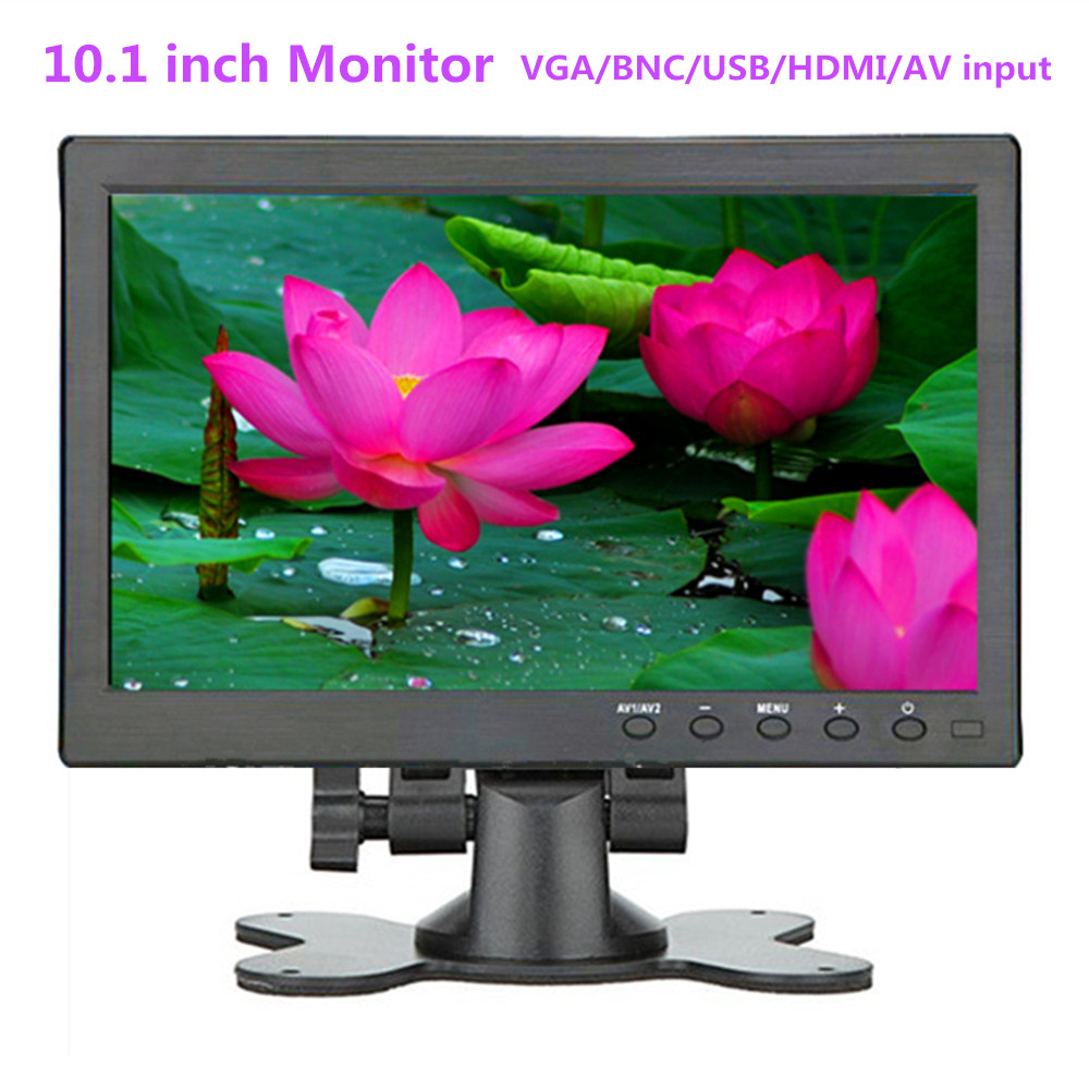 10 1 HD1024 600 LCD monitor Car monitor Home security monitor PC TV Display built in