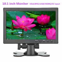 "10.1"" HD1024*600 LCD monitor Car monitor Home security monitor PC /TV Display built-in speaker Support VGA/BNC/USB/HDMI/AV input"