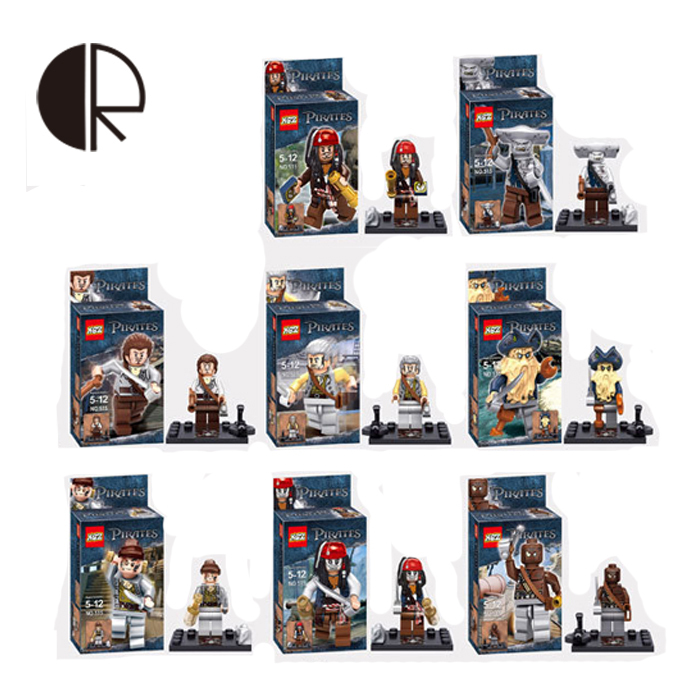 ФОТО 8pcs/set new arrival 2015 the pirates of the caribbean small interpol building blocks assembling classic toys best gift ht2678