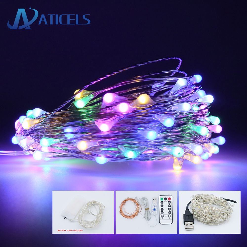 10m Usb Led String Light Waterproof Copper Wire Fairy String Christmas Light For Party Wedding Holiday Decoration