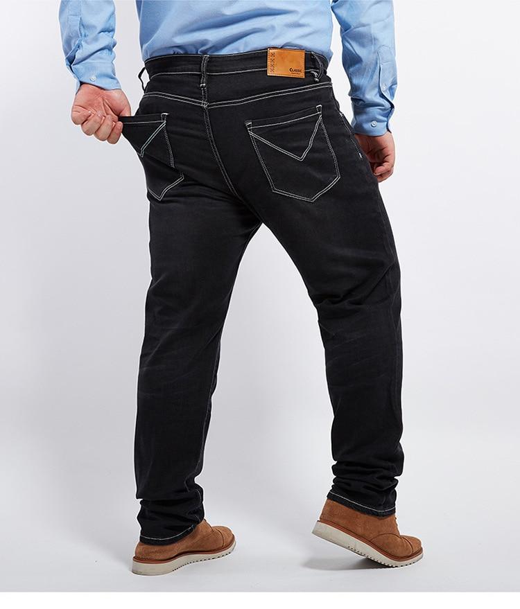 Размера плюс 8xl 4xl 6xl 48 50 52 мужские брюки в стиле хип-хоп хлопковые топы черные синие длинные брюки мужские брендовые длинные джинсы - Цвет: model 10