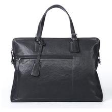 GSQ Genuine Leather Men Handbag Classic High Quality Leather Bag Business Men Bag 14inch Laptop Briefcase Messenger Bag G398
