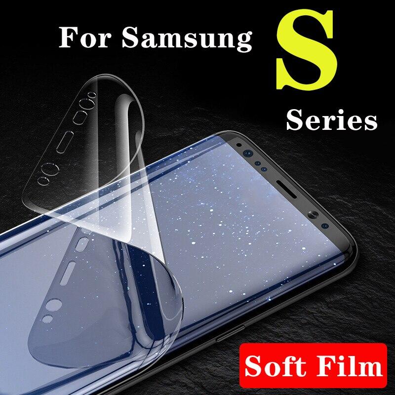 Protetor De Tela suave Sobre Para Samsung Galaxy S8 Plus S9 S7 Borda S6 S 6 7 8 9 Película Protetora sumsun Luz Tpu Hidrogenada Samsun Gala