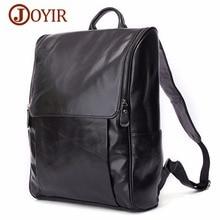 JOYIR Genuine Leather Men Backpack Fashion Causal 15 Laptop Vintage Business Travel Bags For Daypacks Mochila Male