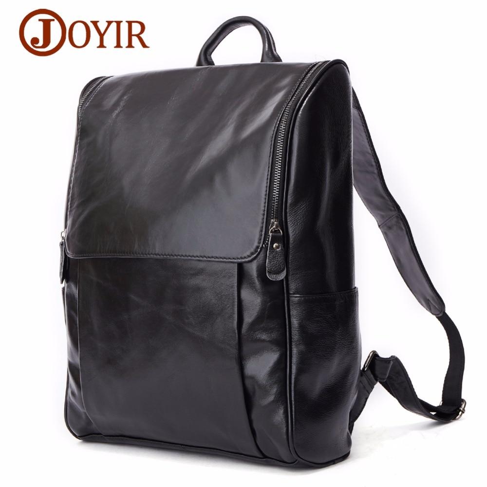 """JOYIR prawdziwej skóry mężczyźni plecak moda casual 15 """"laptopa plecak w stylu Vintage, biznesu torby podróżne dla mężczyzn jednodniowe Mochila mężczyzna w Plecaki od Bagaże i torby na  Grupa 1"""