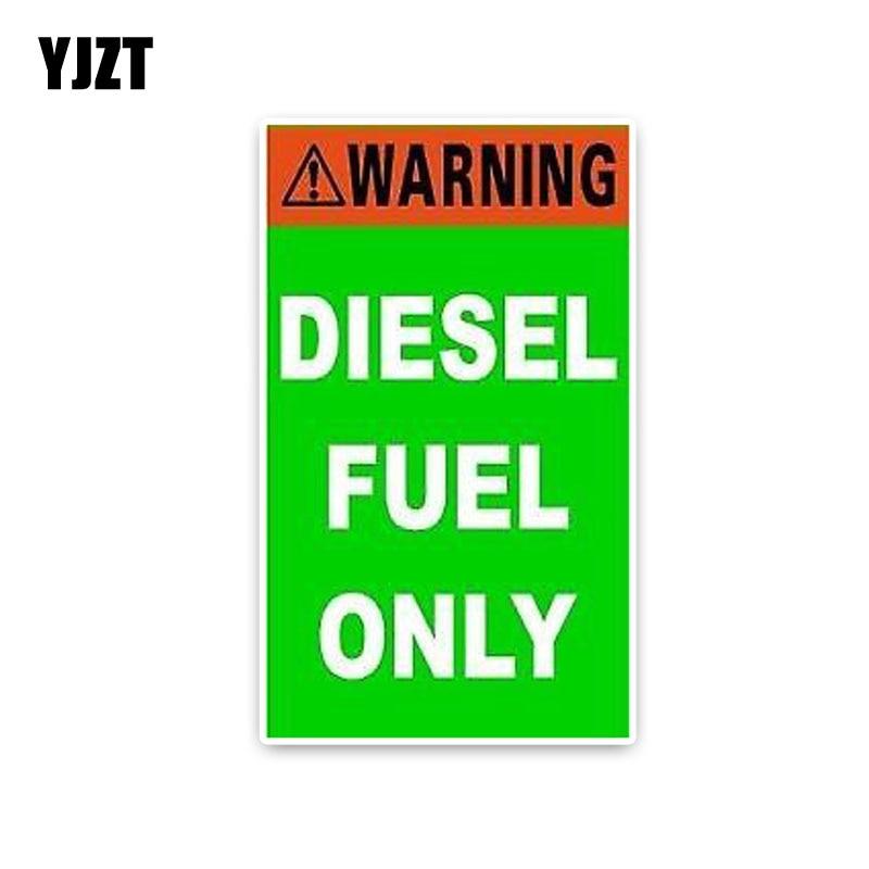 YJZT 8,2*14 см модная зеленая дизельная топливная только наклейка на окно автомобиля ретро-отражающие наклейки