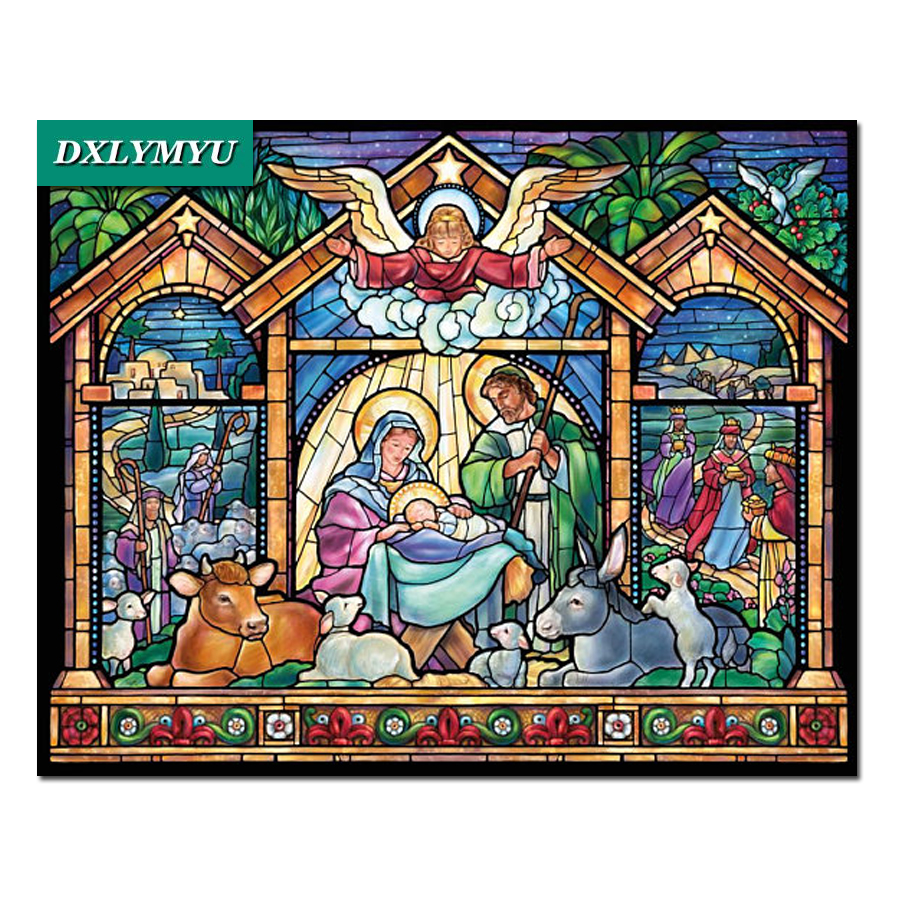 DIY 5D Diamond Painting Cross Stitch Angel and Madonna Unfinished Decor Full square Diamond Embroidery Mosaic religion Series