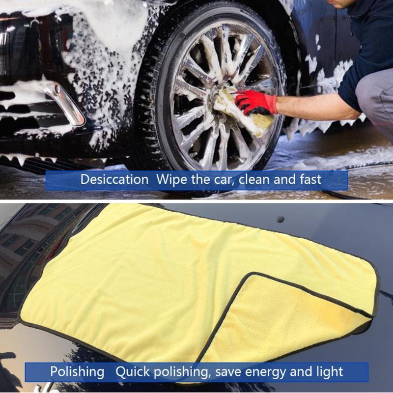 90x53 cm Absorvente Super da Lavagem de Carro Carro Toalha De Microfibra Car Care Pano de Limpeza de Secagem Pano Bainha Detalhamento Wash toalha Quente da Venda