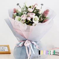 10 Yards Kwiatami Opakowania Przędzy Drobnych Oczkach Bukiet Papieru Papier Pakowy Rolki Na Wesele Walentynki Prezent Pakiet Wystrój 3