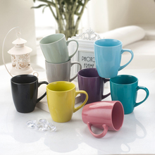50/lot 11oz solid color glossy mug with personalised and customized logo