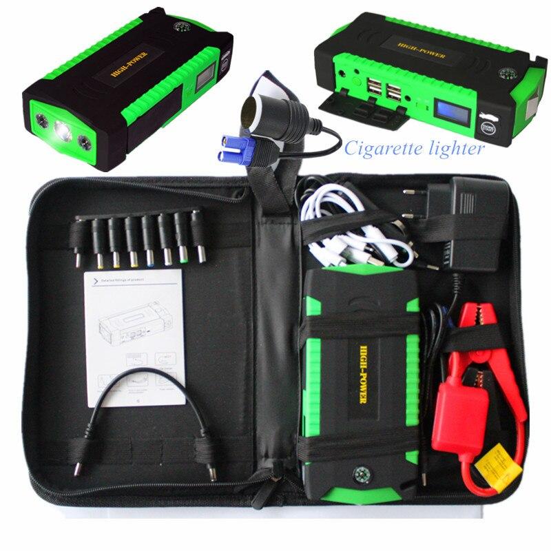 Portable Voiture Saut Starte Pack 12 V 16000 mAh Puissance Banque pour Voiture Auto Dispositif de Démarrage D'urgence Allumage Batterie Diesel essence