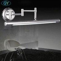 Modern Gümüş SMD LED ön ayna ışık banyo dolabı soyunma masa mutfak lambaları ayarlanabilir kol Avrupa luz Yenilik aydınlatma