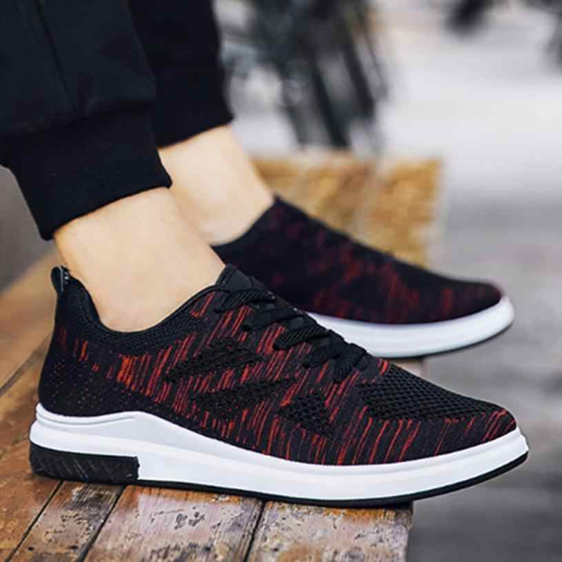 Hot Sale Running Shoes For Men Lace-up Athletic Trainers Zapatillas Sports Male Shoes Outdoor Walking Sneakers 0724