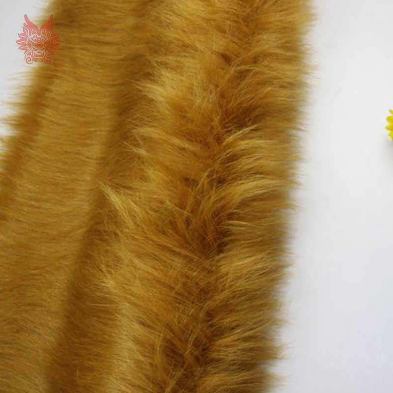 Tela de piel sintética de camel de pelo largo de 7 cm de alto grado para abrigo de invierno, chaleco, cosplay etapa de decoración envío gratis 150*50 cm 1 pieza SP2573