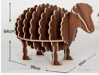 Sheep bookshelf.. Animal model of children furniture furnishing articles personality. Kindergarten decorate the table