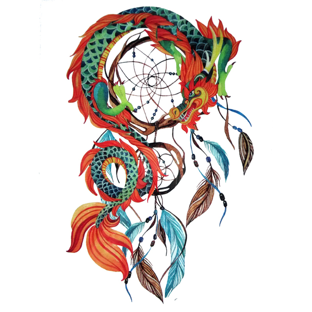 2016 new arrival chinese dragon dream catcher dreamcatcher tattoo 2016 new arrival chinese dragon dream catcher dreamcatcher tattoo designs cool body art waterproof temporary tattoo pronofoot35fo Choice Image