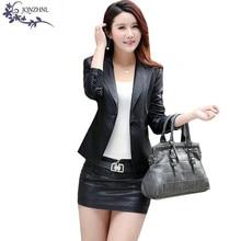 2017 Spring leather jacket women slim Plus size women leather clothing short coat lady Motorcycle Outerwear jacket A533 JQNZHNL